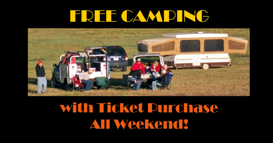 Free Camping with Ticket Purchase at Toadstock
